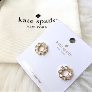 ♠️ Kate Spade Full Circle Gold Studs